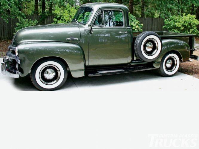 1955 Chevrolet 3100 Pickup Stepside Classic Old Vintage USA 1600x1200-02 wallpaper