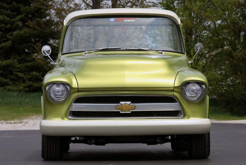 1955 Chevrolet 3100 Pickup Stepside E-Rod Lingenfelter Streetrod Street Rod USA 1600x1066-02 wallpaper
