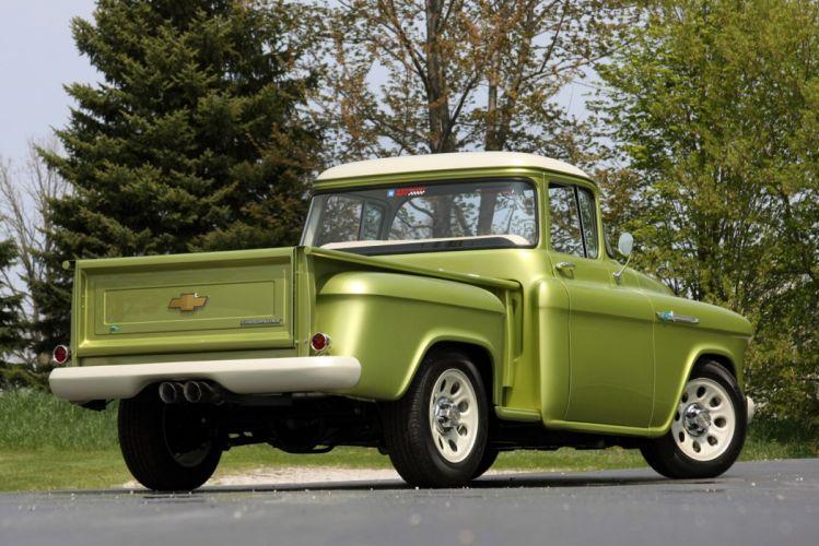 1955 Chevrolet 3100 Pickup Stepside E-Rod Lingenfelter Streetrod Street Rod USA 1600x1066-06 wallpaper
