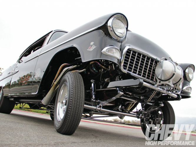 1955 Chevrolet Bel Air Hardtop Gasser Drag Dragster Street Hot USA 1600x1200-01 wallpaper