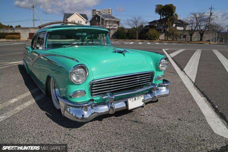 1955 Chevrolet Bel Air Hotrod Hot Rod Custom Kustom Old School USA 1920x1280-04 wallpaper