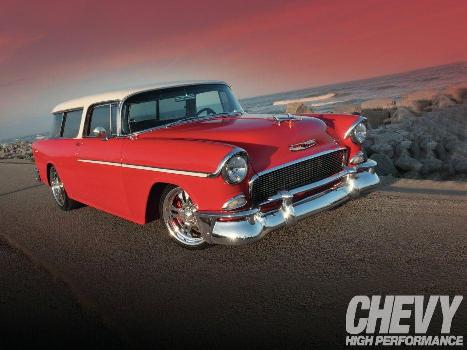 1955 Chevrolet Bel Air Nomad Hotrod Streetrod Hot Rot Street Wagon USA 1600x1200-01 wallpaper