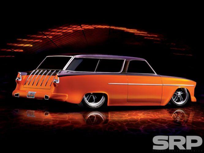 1955 Chevrolet Bel Air Nomad Hotrod Streetrod Hot Rot Street Wagon USA 1600x1200-05 wallpaper