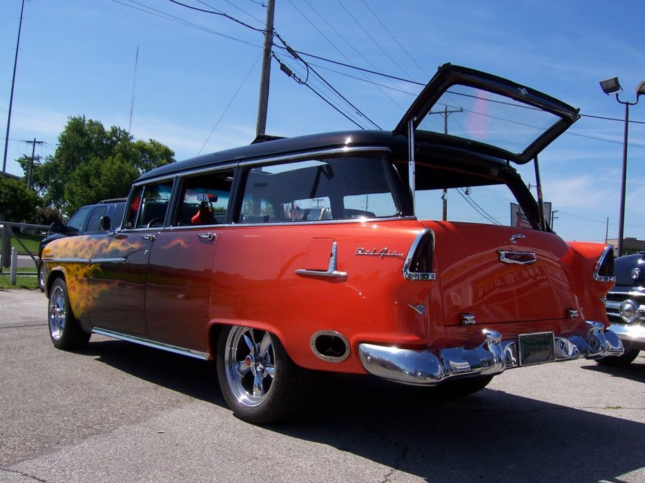 1955 Chevrolet Bel Air Nomad Hotrod Streetrod Hot Rot Street Wagon USA 2304x1728-04 wallpaper