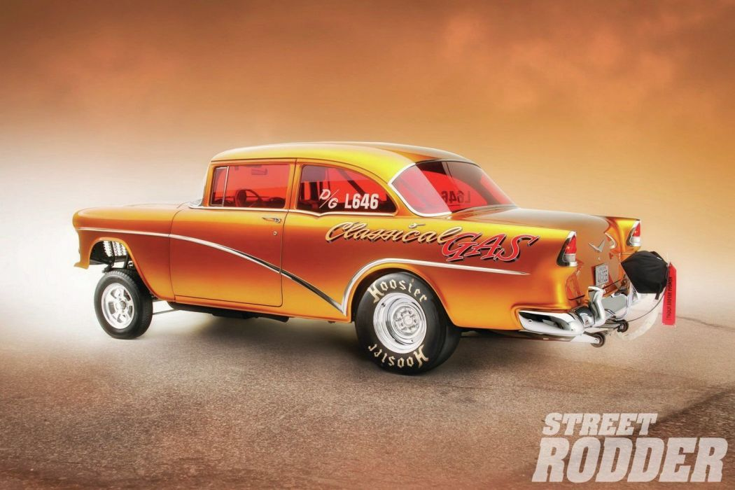 1955 Chevrolet Bel Air Sedan Two Door Gasser Drag Dragster Race Racing USA 1500x1000-03 wallpaper