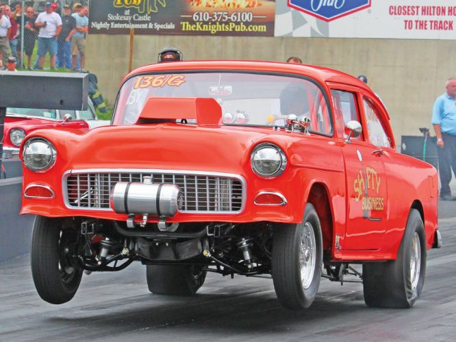 1955 Chevrolet Bel Air Sedan Two Door Gasser Drag Dragster Race Racing USA 1600x1200-05 wallpaper