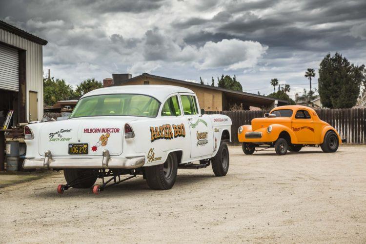 1955 Chevrolet Bel Air Sedan Two Door Gasser Drag Dragster Race Racing USA 2048x1360-02 wallpaper