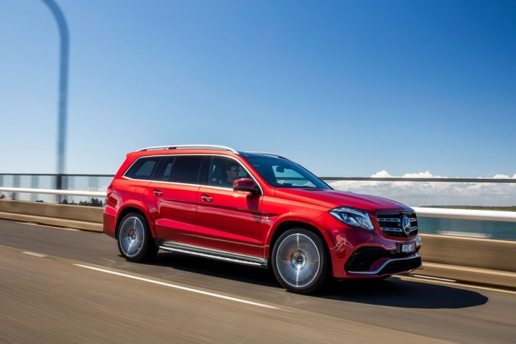 Mercedes AMG GLS 63 4MATIC AU-spec (X166) cars red 2016 wallpaper