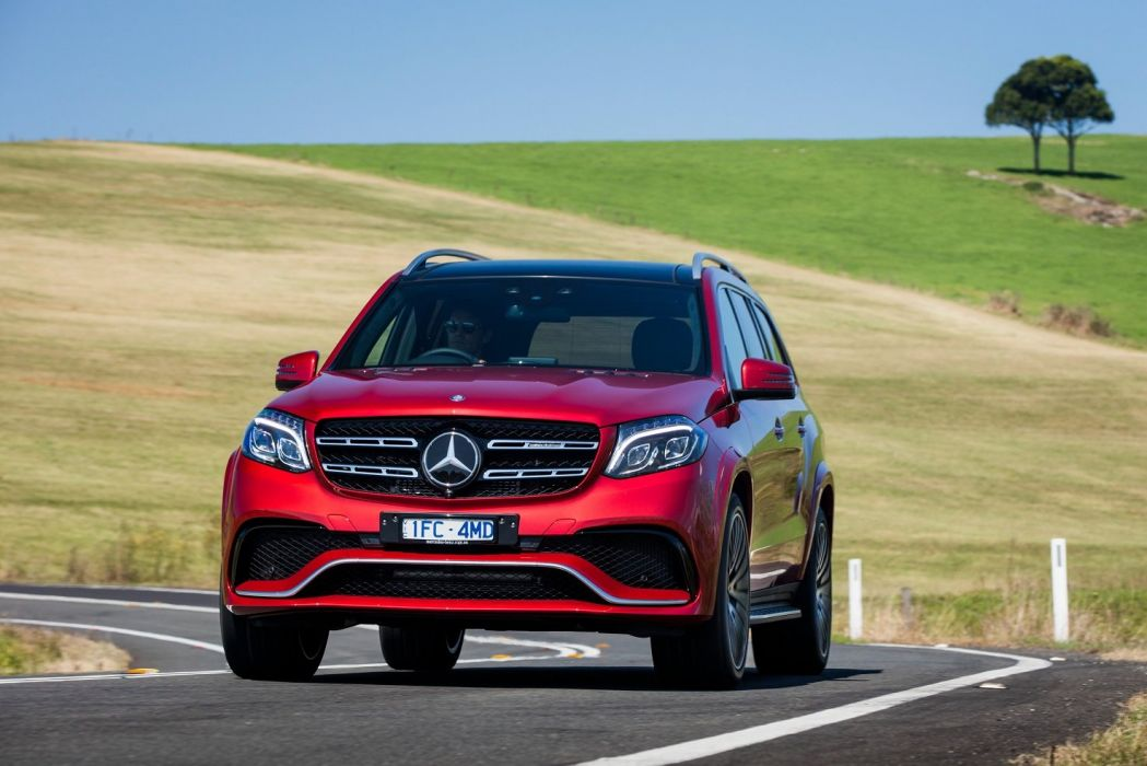 Mercedes AMG GLS 63 4MATIC AU-spec (X166) cars red 2016 wallpaper
