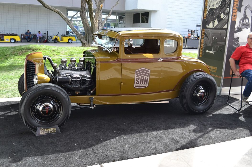1931 Ford Coupe Model-A Five Window Hotrod Hor Rod Custom Old School USA -06 wallpaper