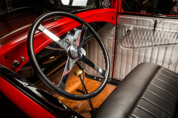 1930 Ford Model A Coupe Five Window Hotrod Hot Rod Classic Vinyage Old School USA -08 wallpaper