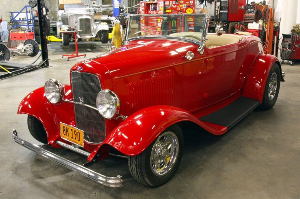 1932 Ford Fendered Roadster Hotrod Hot Rod Classic USA -04 wallpaper