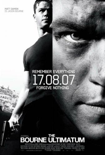 BOURNE Matt Damon action spy crime fighting thriller poster wallpaper