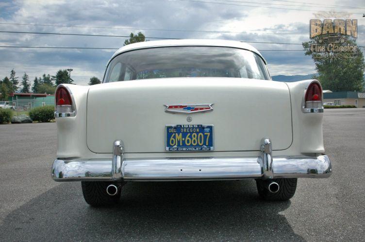 1955 Chevrolet BelAir Coupe Two Door Hotrod Streetrod Hot Rod Street Red USA 1500x1000-06 wallpaper