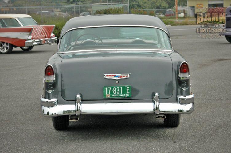 1955 Chevrolet BelAir Coupe Two Door Hotrod Streetrod Hot Rod Street USA 1500x1000-01 wallpaper