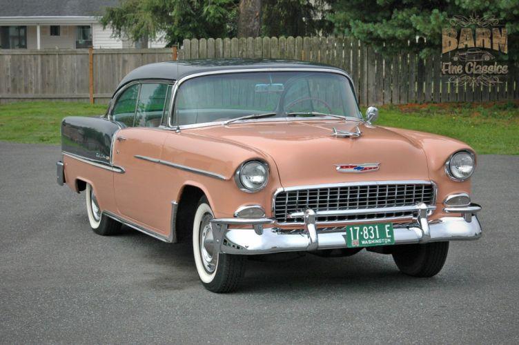 1955 Chevrolet BelAir Coupe Two Door Hotrod Streetrod Hot Rod Street USA 1500x1000-05 wallpaper