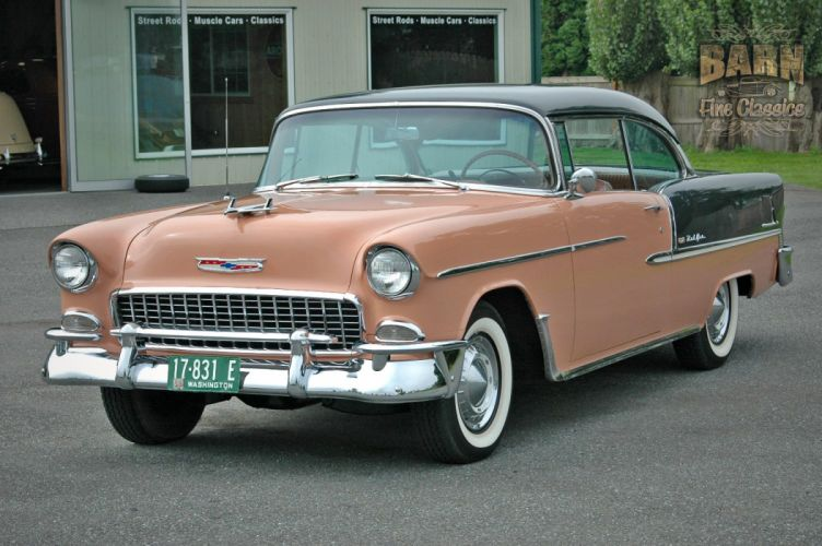 1955 Chevrolet BelAir Coupe Two Door Hotrod Streetrod Hot Rod Street USA 1500x1000-07 wallpaper