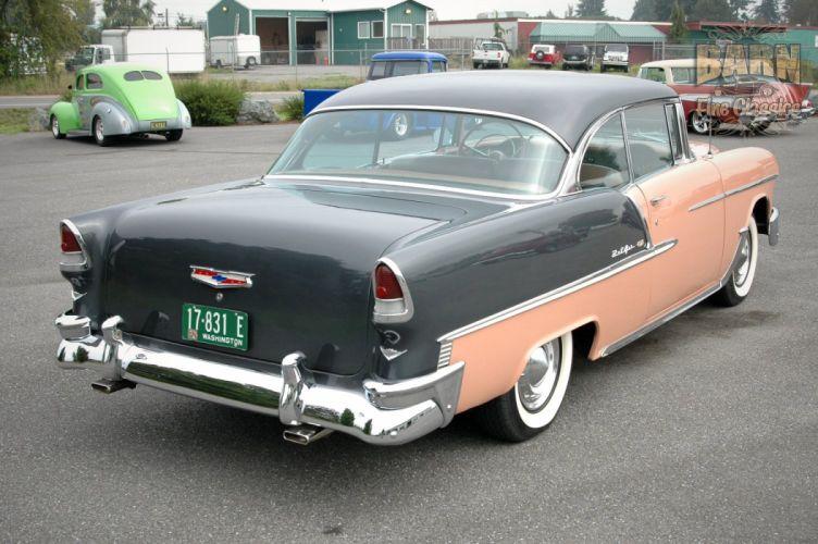 1955 Chevrolet BelAir Coupe Two Door Hotrod Streetrod Hot Rod Street USA 1500x1000-14 wallpaper