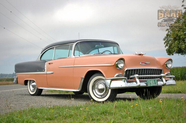 1955 Chevrolet BelAir Coupe Two Door Hotrod Streetrod Hot Rod Street USA 1500x1000-21 wallpaper