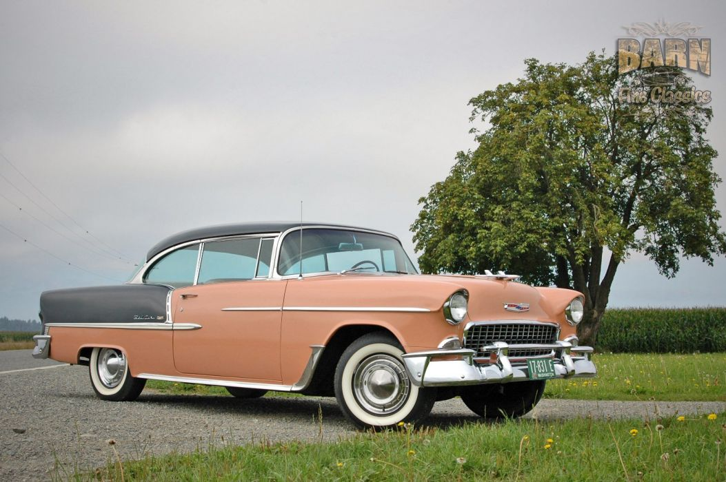 1955 Chevrolet BelAir Coupe Two Door Hotrod Streetrod Hot Rod Street USA 1500x1000-20 wallpaper