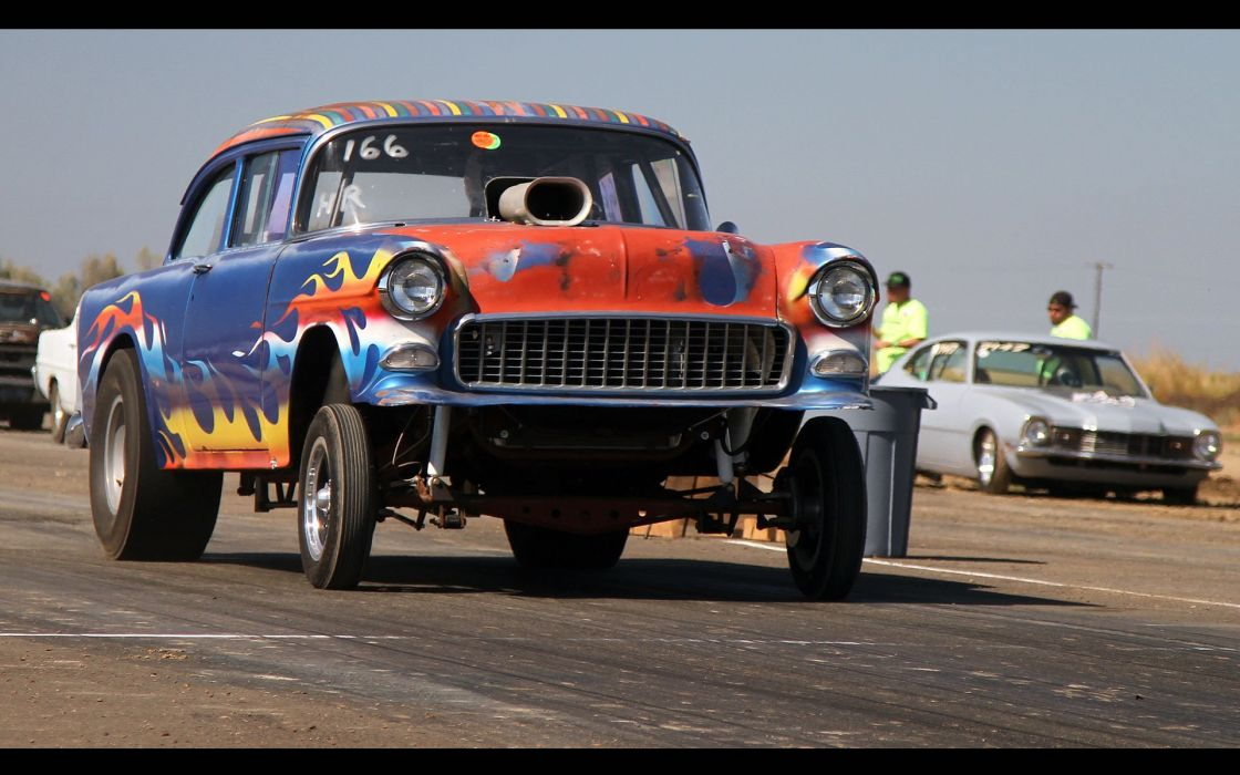1955 Chevrolet BelAir Drag Dragster Race Vintage Pro Stock Gasser USA 1920x1200-01 wallpaper