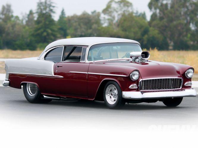 1955 Chevrolet Chevy 210 bel air Super Street Pro Drag USA 1600x1200-01 wallpaper