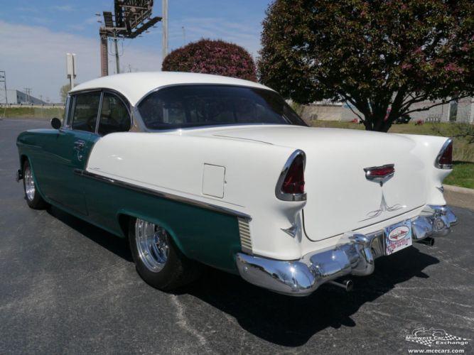 1955 Chevrolet Chevy 210 Belair Bel Air Hardtop Streetrod Street Rod Cruiser USA -04 wallpaper