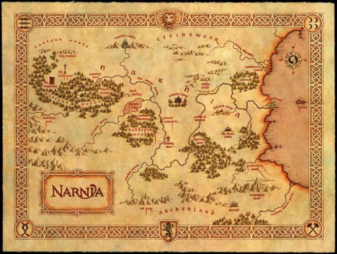 NARNIA adventure fantasy series book disney chronicles poster map wallpaper
