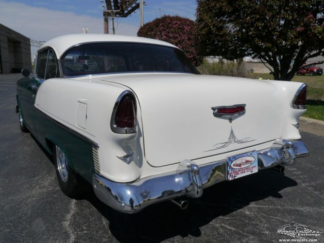 1955 Chevrolet Chevy 210 Belair Bel Air Hardtop Streetrod Street Rod Cruiser USA -05 wallpaper