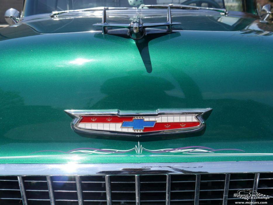 1955 Chevrolet Chevy 210 Belair Bel Air Hardtop Streetrod Street Rod Cruiser USA -09 wallpaper