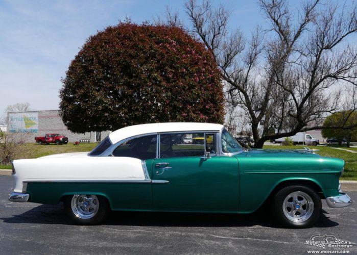 1955 Chevrolet Chevy 210 Belair Bel Air Hardtop Streetrod Street Rod Cruiser USA -11 wallpaper