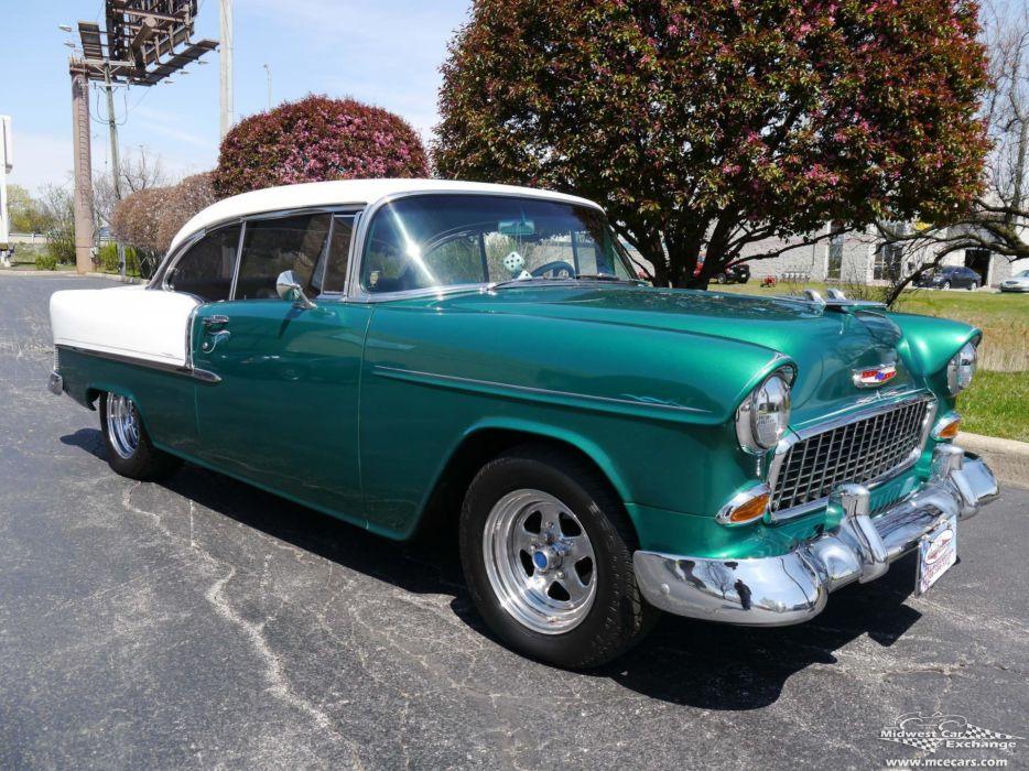 1955 Chevrolet Chevy 210 Belair Bel Air Hardtop Streetrod Street Rod Cruiser USA -13 wallpaper