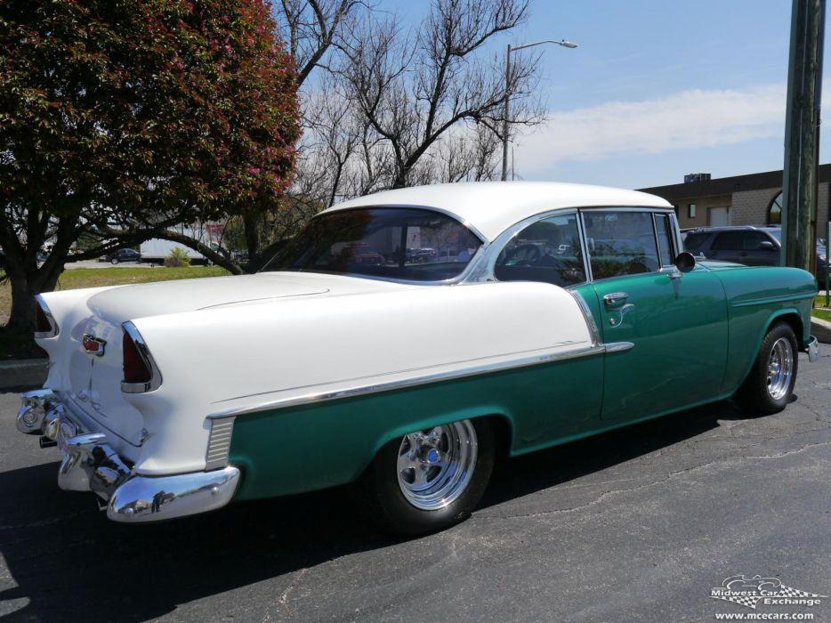 1955 Chevrolet Chevy 210 Belair Bel Air Hardtop Streetrod Street Rod Cruiser USA -15 wallpaper