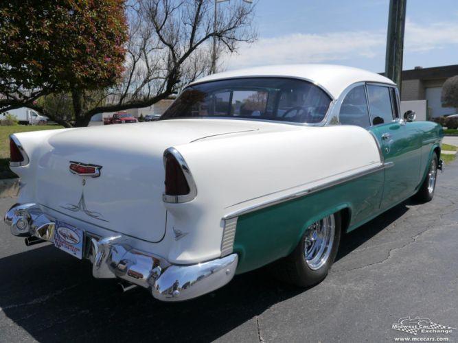 1955 Chevrolet Chevy 210 Belair Bel Air Hardtop Streetrod Street Rod Cruiser USA -16 wallpaper