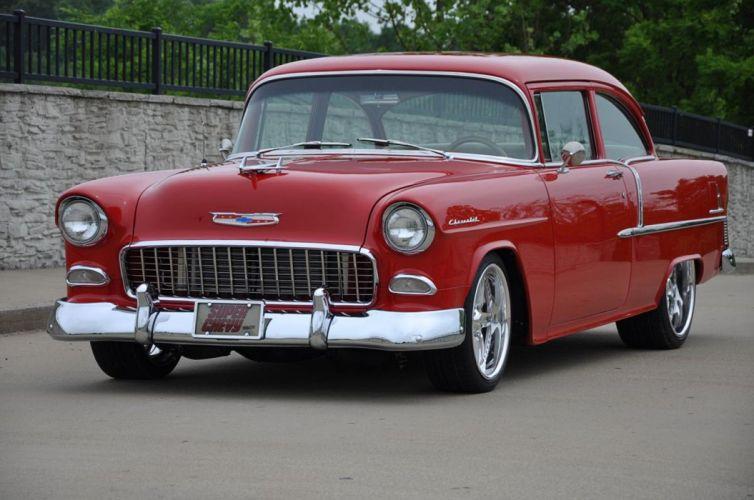 1955 Chevrolet Chevy Bel Air Belair 210 Cruiser Resto Mod Streetrod Street Rod Hot USA -04 wallpaper