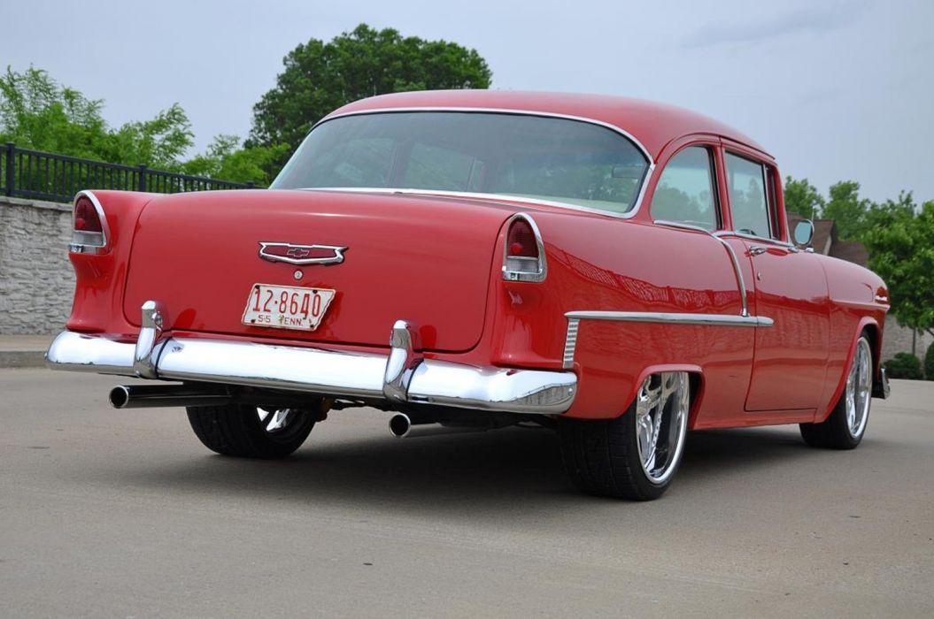 1955 Chevrolet Chevy Bel Air Belair 210 Cruiser Resto Mod Streetrod Street Rod Hot USA -10 wallpaper