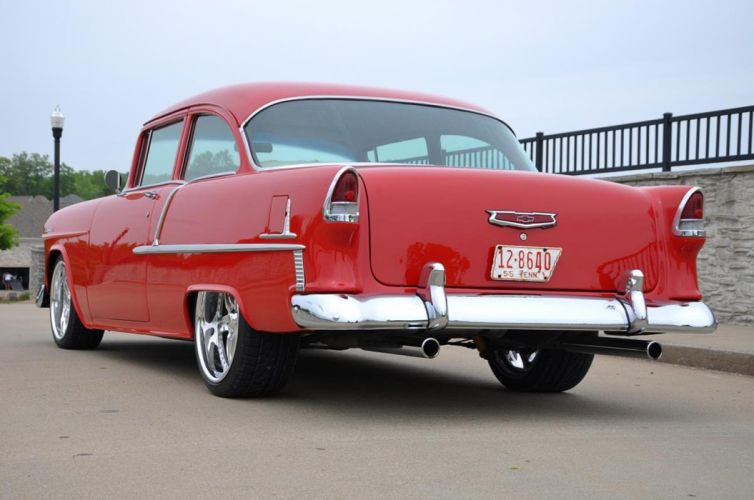 1955 Chevrolet Chevy Bel Air Belair 210 Cruiser Resto Mod Streetrod Street Rod Hot USA -12 wallpaper