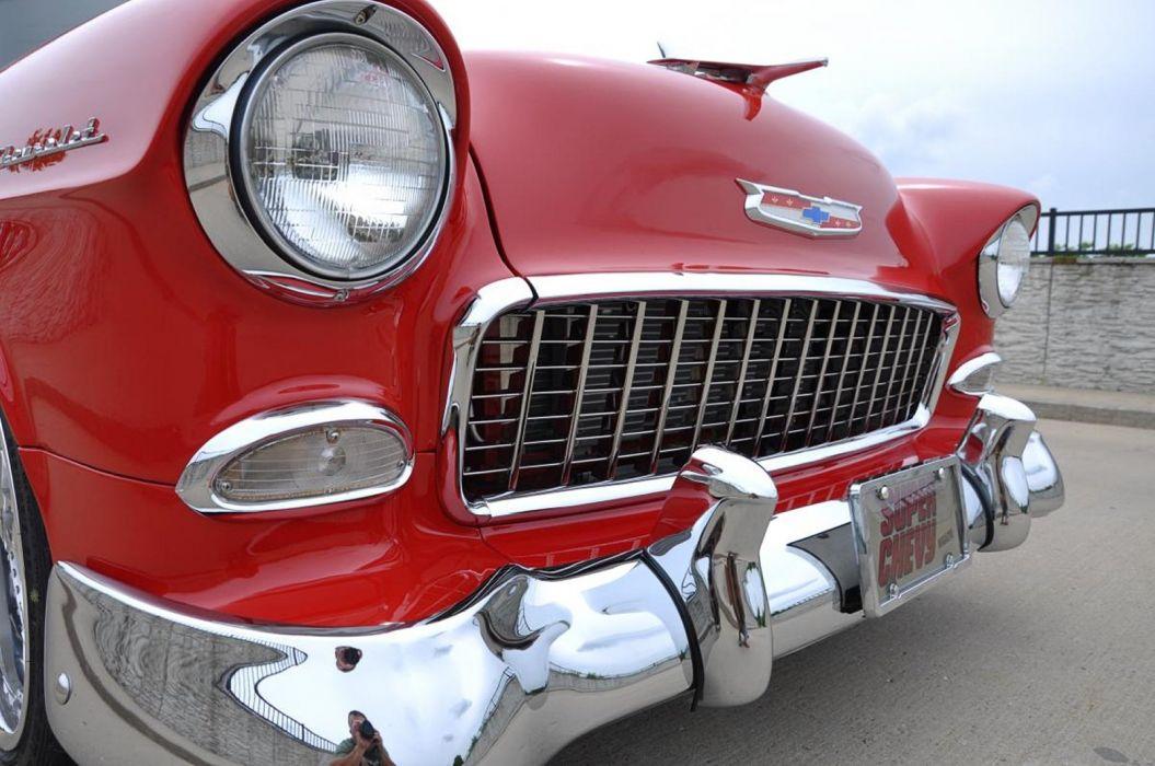 1955 Chevrolet Chevy Bel Air Belair 210 Cruiser Resto Mod Streetrod Street Rod Hot USA -17 wallpaper