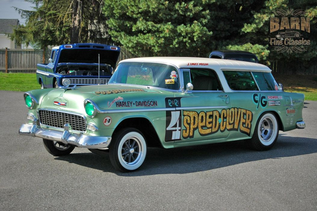 1955 Chevrolet Chevy Nomad BelAir Gasser Pro Stocl Drag Dragster Race Racing Vintage USA 1500x1000-03 wallpaper