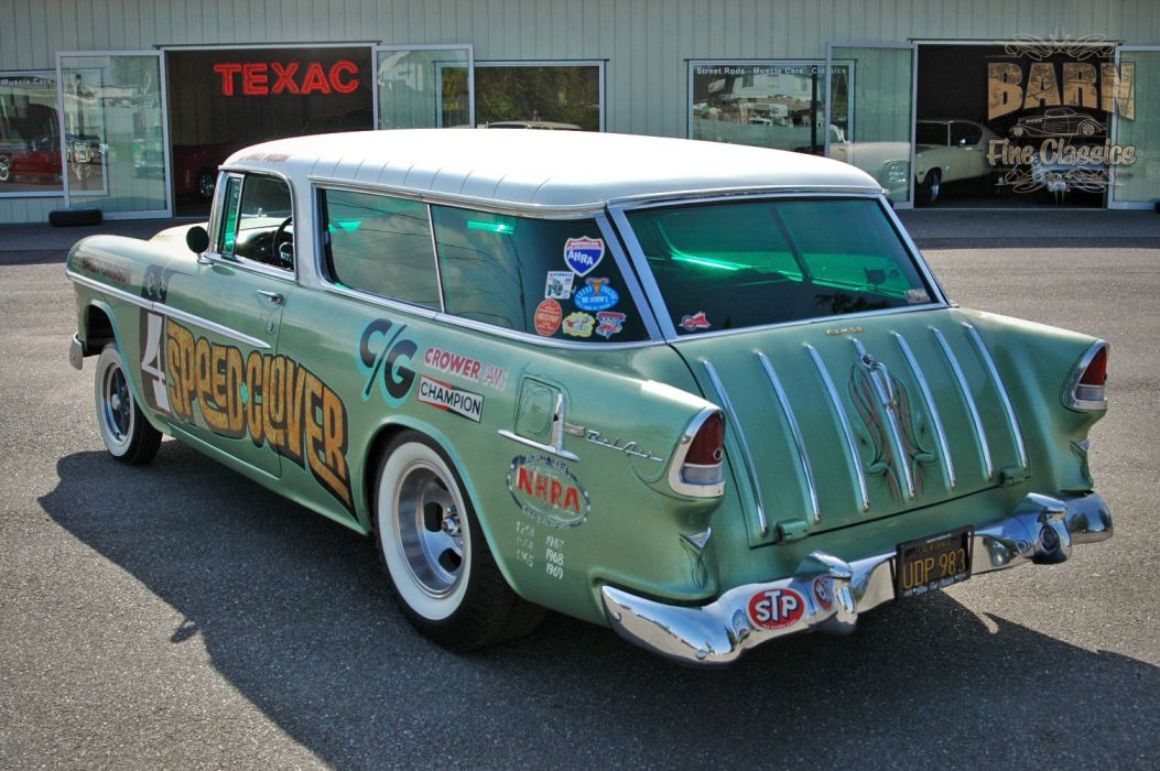 1955 Chevrolet Chevy Nomad BelAir Gasser Pro Stocl Drag Dragster Race Racing Vintage USA 1500x1000-05 wallpaper