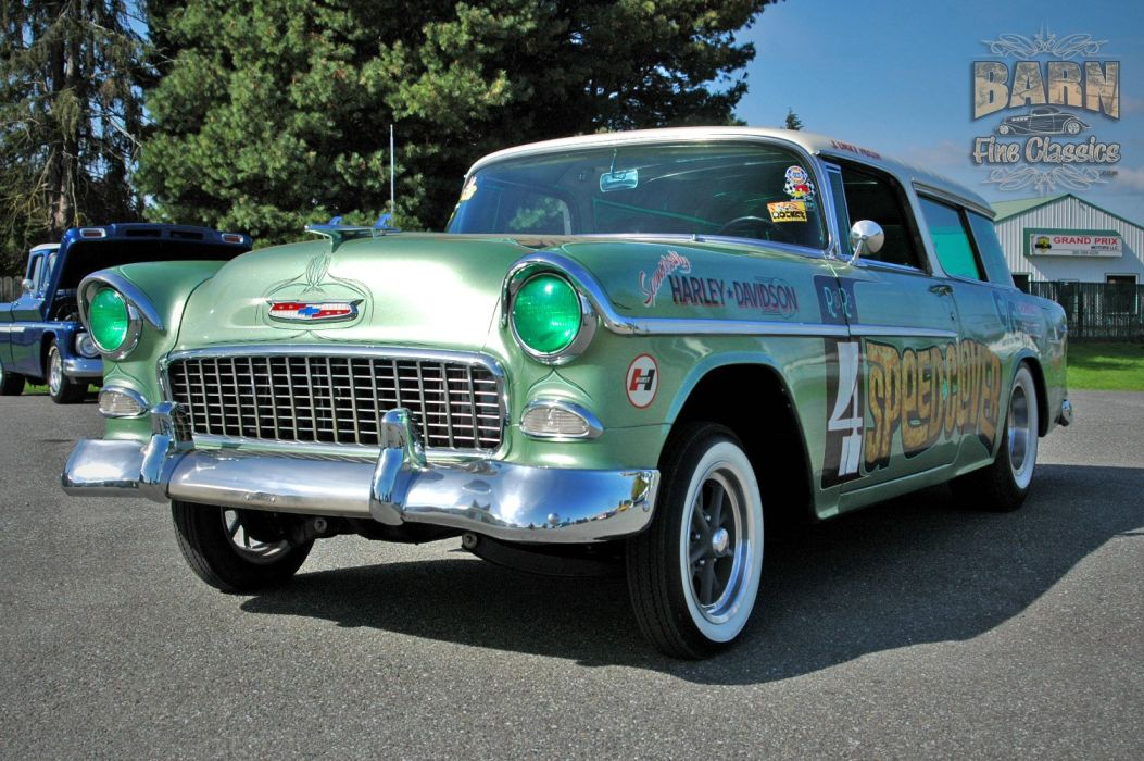 1955 Chevrolet Chevy Nomad BelAir Gasser Pro Stocl Drag Dragster Race Racing Vintage USA 1500x1000-04 wallpaper