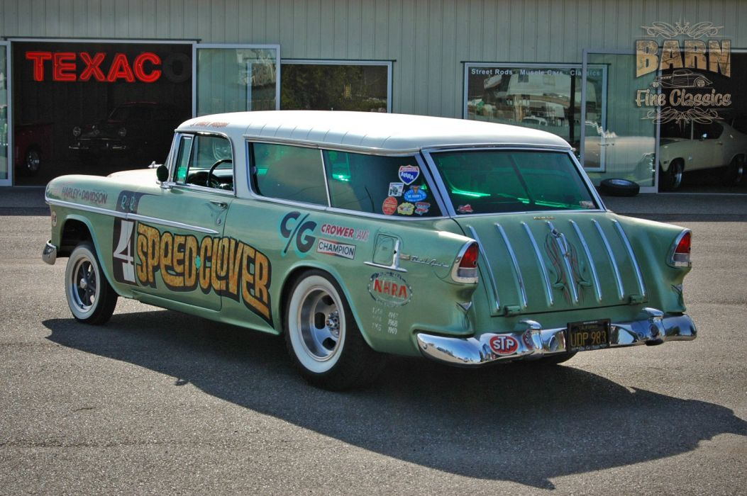 1955 Chevrolet Chevy Nomad BelAir Gasser Pro Stocl Drag Dragster Race Racing Vintage USA 1500x1000-11 wallpaper