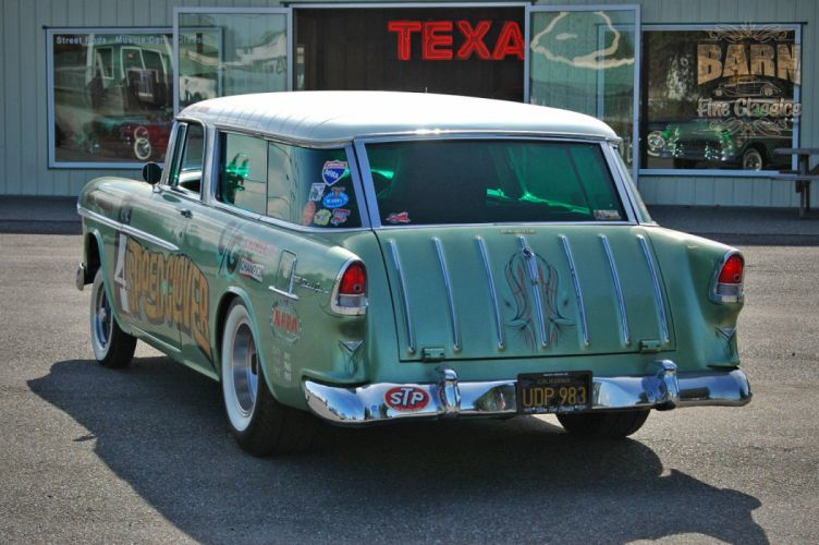 1955 Chevrolet Chevy Nomad BelAir Gasser Pro Stocl Drag Dragster Race Racing Vintage USA 1500x1000-12 wallpaper