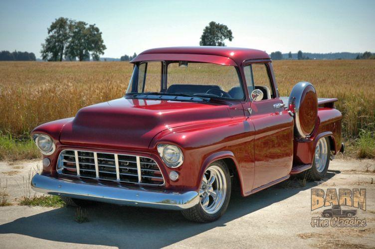 1955 Chevrolet Chevy Pickup Hotrod Streetrod Hot Rod Street USA 1500x1000-01 wallpaper