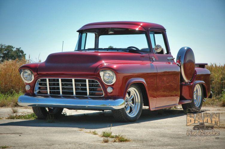 1955 Chevrolet Chevy Pickup Hotrod Streetrod Hot Rod Street USA 1500x1000-03 wallpaper