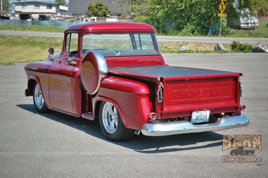 1955 Chevrolet Chevy Pickup Hotrod Streetrod Hot Rod Street USA 1500x1000-06 wallpaper