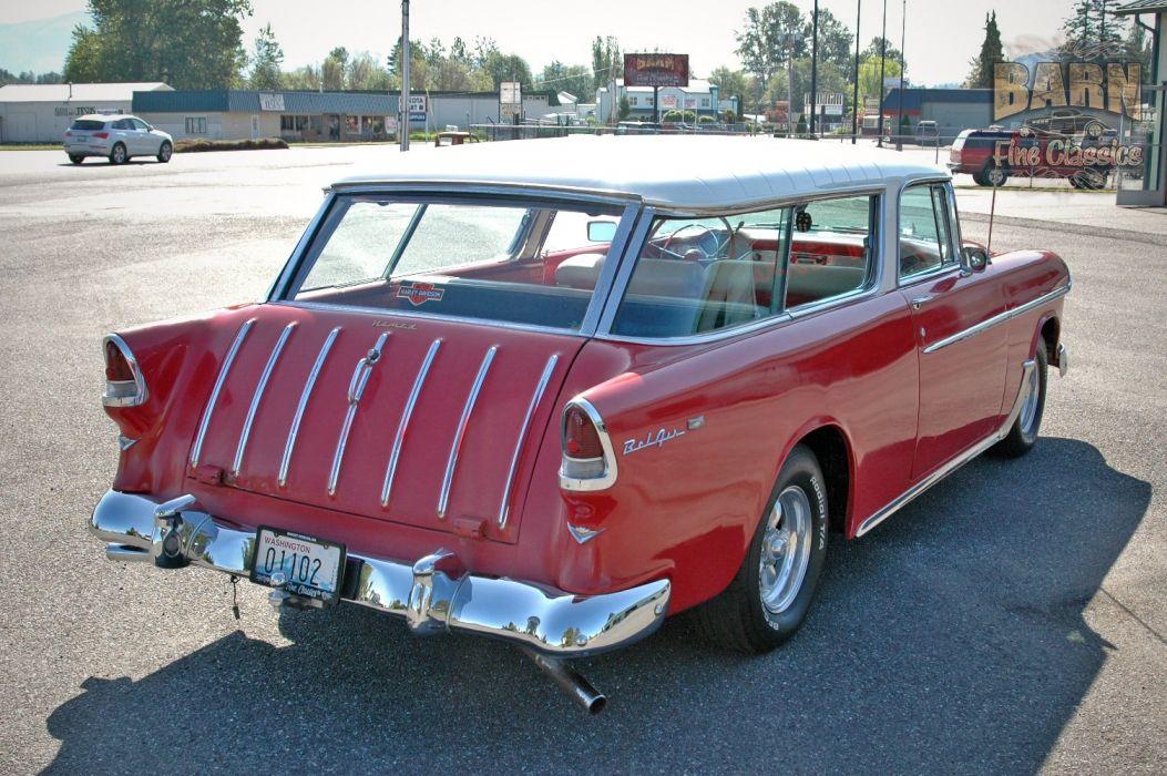 1955 Chevrolet Nomad BelAir Hotrod Streetrod Hot Rod Street USA 1500x1000-12 wallpaper