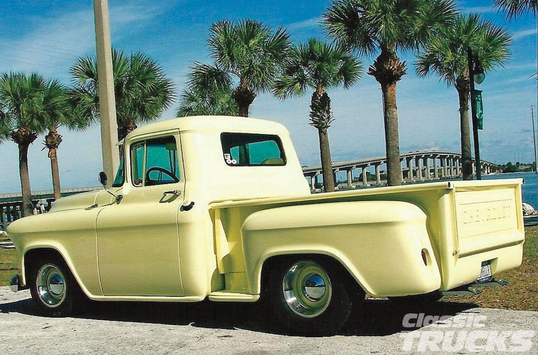 1955 Chevrolet Pickup Stepside Hotrod Hot Rod Custom Old School USA 1600x1200-02 wallpaper