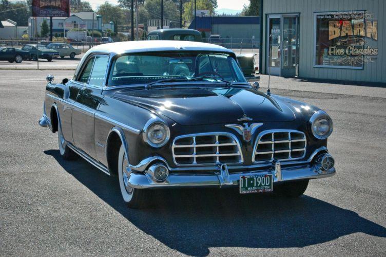 1955 Chrysler Imperial Newport Hardtop Classic Old Vintage Retro USA-1500x1000-04 wallpaper