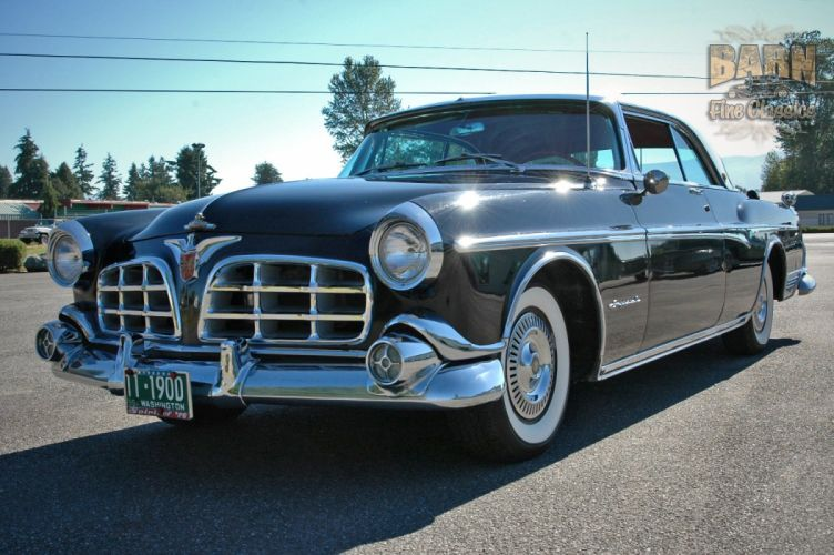 1955 Chrysler Imperial Newport Hardtop Classic Old Vintage Retro USA-1500x1000-07 wallpaper